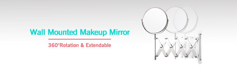 extendable wall mounted mirror