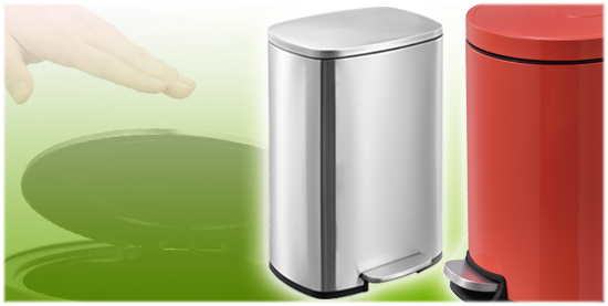 stainless steel pedal trash can, sendor dustbin