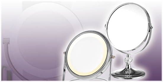 LED magnifying mirror, makeup mirror