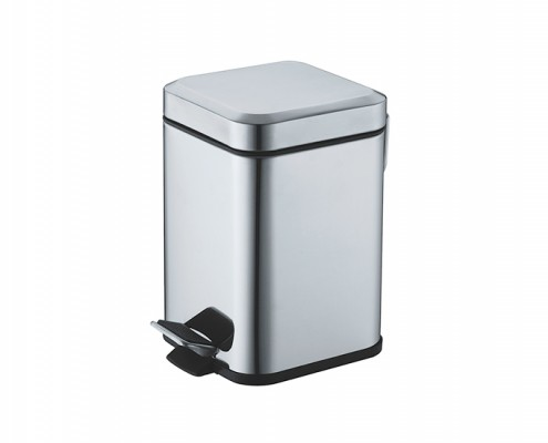 square stainless steel pedal bin 12 liter, stainless steel lid