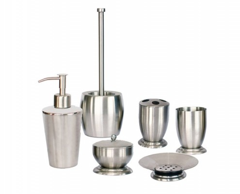 Bathroom Accessories, Bathroom Sets, Stainless Steel Bathroom Accessories, Bathroom Accessories Sets, Soap Dispenser, Toilet Brush Holder, Soap Dish, Tumbler, Toothbrush Holder, Rinse Cup, Cotton Swab Holder, Gargle Cup, Bathroom Shower Set, Bathroom Ware, Sanitary Ware, bathroom Collections