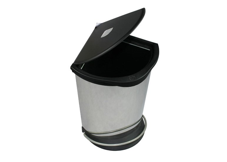 Corner bin, pedal dustbin, step-on trash can