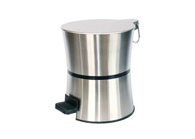 Stainless Steel Trash Can,Wastebin,Step Pedal Garbage Bin,Hourglass Shaped Rubbish Can
