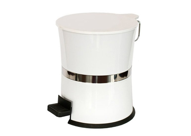 Plastic Trash Can, Hourglass Shaped Dustbin, Garbage Bin, Waste Bin, Step Pedal Can