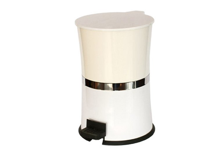Plastic Trash Can, Hourglass Shaped Dustbin, Garbage Bin, Waste Bin,Step Pedal Can