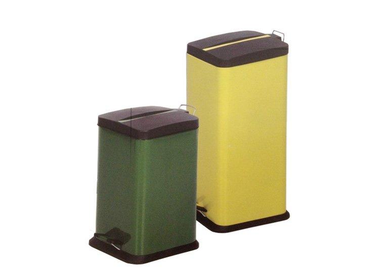 trash can, garbage bin, pedal wastebin