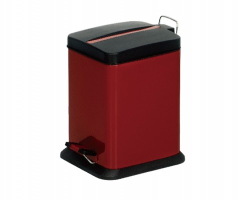 Rectangular Waste Basket Red