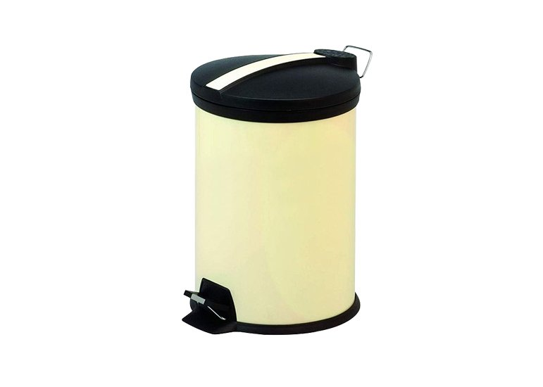 Round Step Color Trash Can Beige 5L
