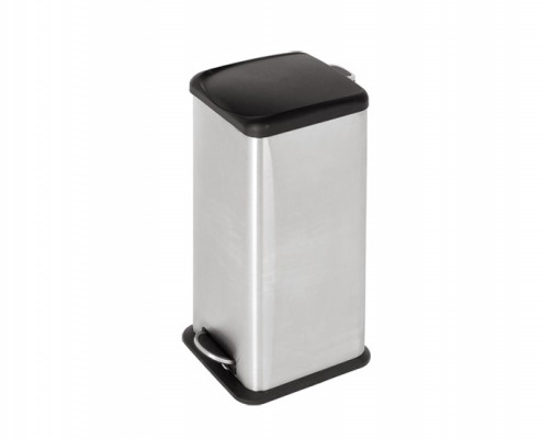 Stainless Steel Square Step Bin with Plastic lid for home and office
