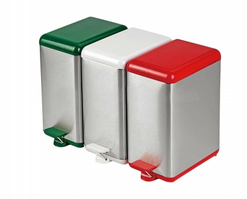 three-piece sets Stainless Steel Trash and Recycling Bin