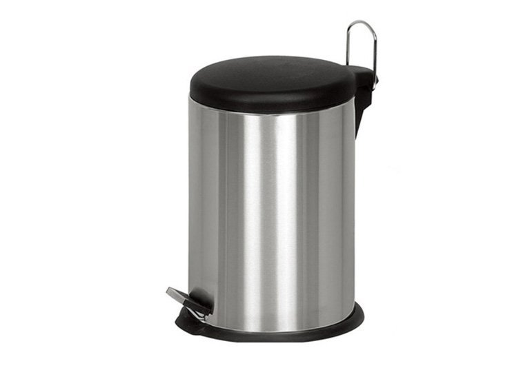 Round Stainless Steel Dustbin, Stainless Steel Trash Can, Wastebin, Garbage Bin
