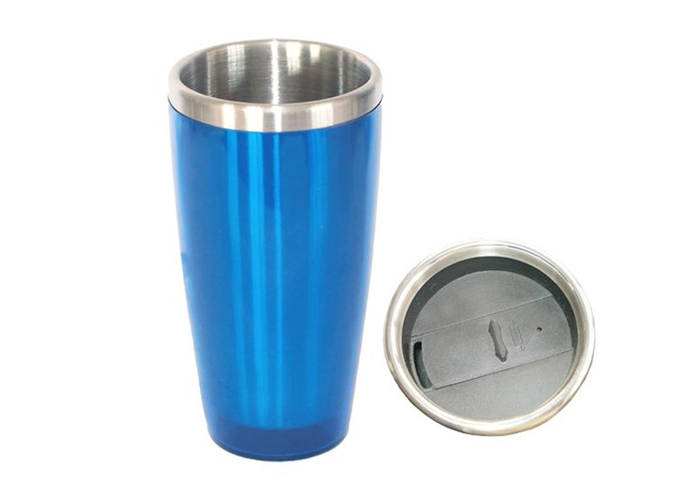 Plastic Travel Mug with slider lid, Travel Coffee Mug, Travel Coffee Cups, thermos travel mug