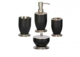 Bath Accessories Sets with black coating