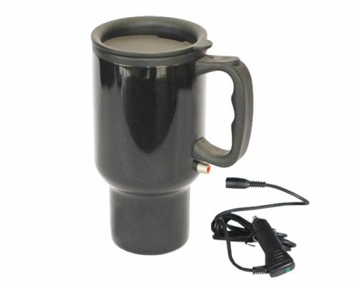 Heated Auto Mug, Car mug with paint coating, Electric travel mug