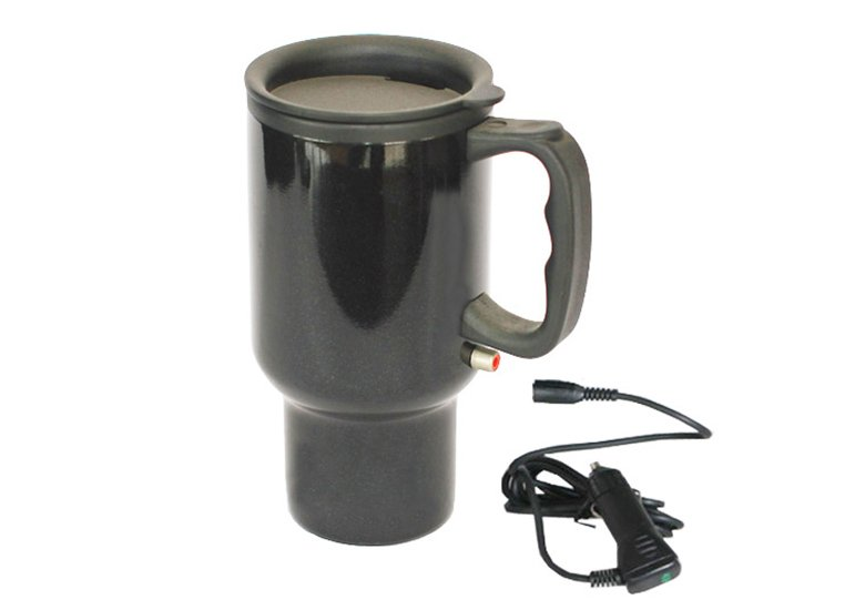 Heated Auto Mug, Car mug with paint coating, Electric travel mug