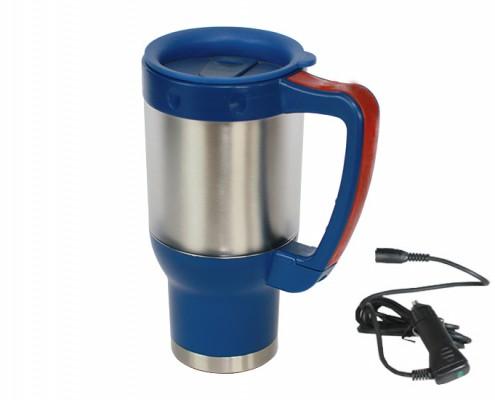 Electric Multi-material Travel Mug, car mug, heated auto mug, stainless steel car mug