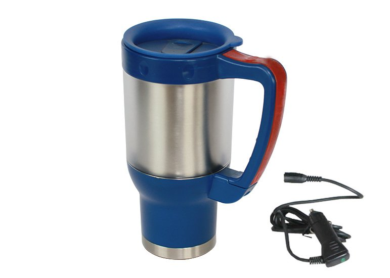 Electric Multi-material Travel Mug, car mug, heated auto mug, stainless steel car mug
