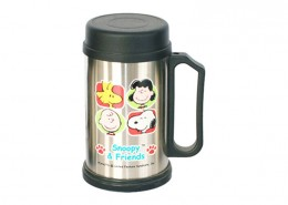 Printed Stainless Steel Mug with Snoopy, coffee cup, personalised mugs, tea cups, travel mug, photo mugs