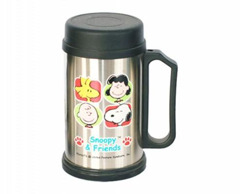 Printed Stainless Steel Mug with Snoopy, coffee cup, personalised mugs, tea cups, travel mug, photo mugs