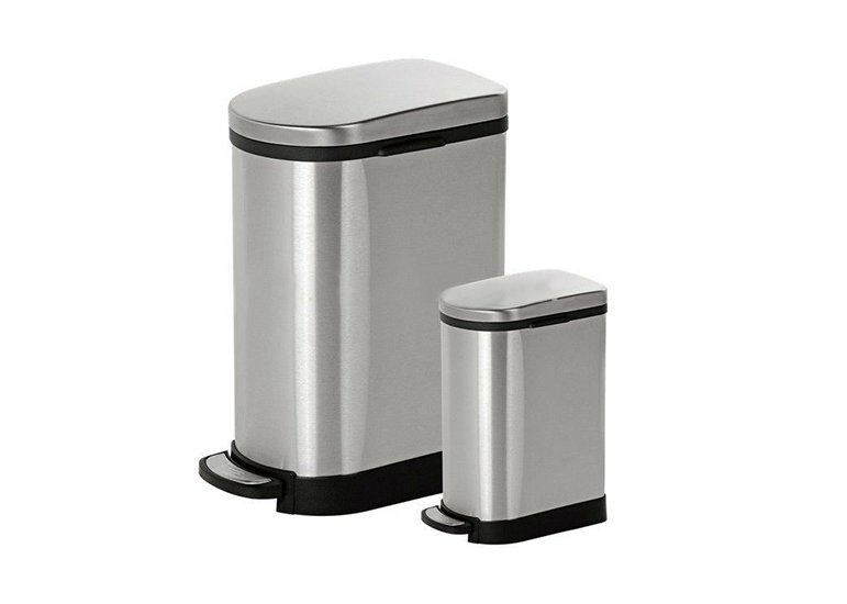 U Shape Garbage Can, Kitchen Waste Bin Soft Close Lid