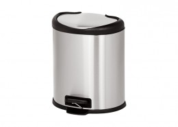 semi-round trash bin silent close lid, Stainless Steel Kitchen Bin