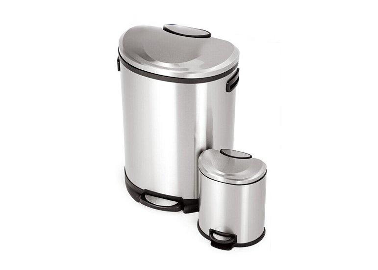pedal waste bin semi-round