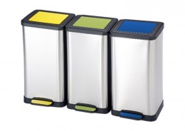 colored rectangle pedal dustbin