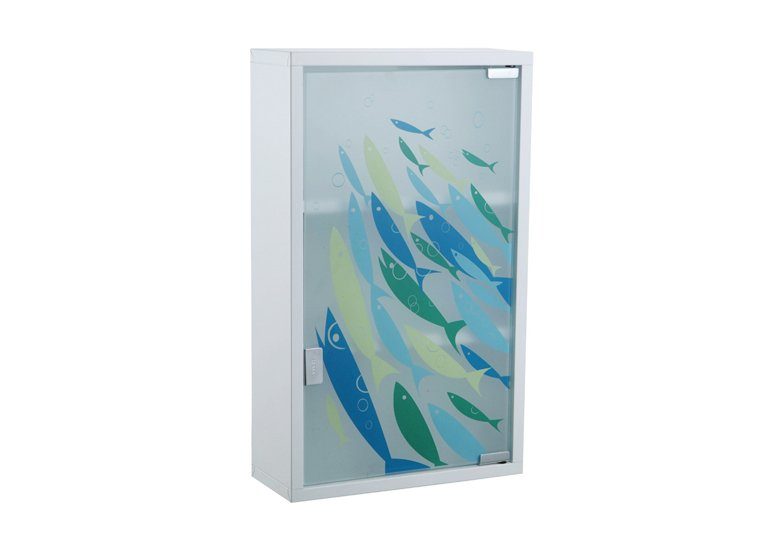 Medicine Cabinet With Fishes Pattern