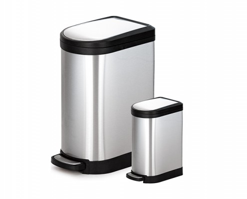 Stainless Steel Half Round Trash can