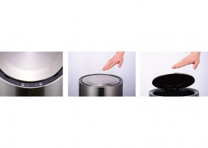 touch-free round sensor garbage can