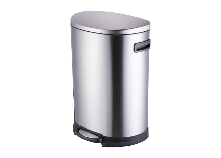 Semi Round Stainless Steel Pedal Bin