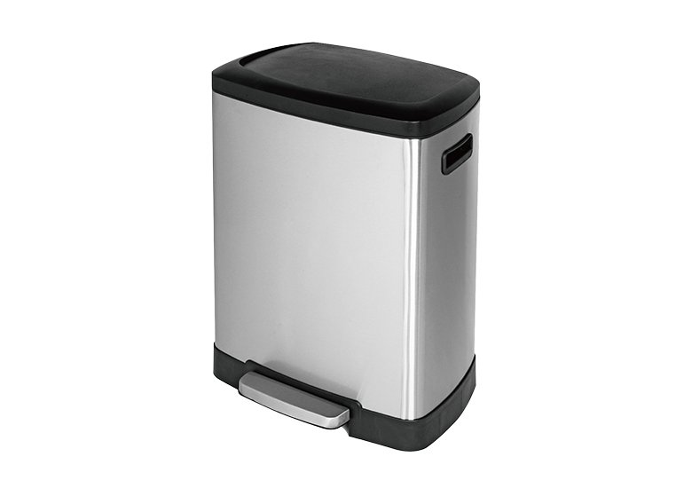 large rectangular trash can