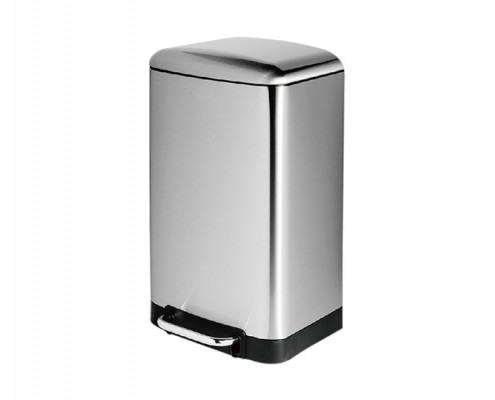 rectangular step-on trash can