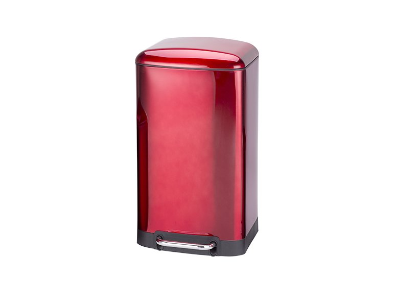 rectangular stainless steel trash can spray paint red 30 liter
