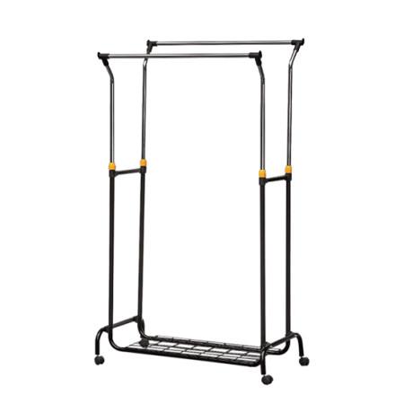 manual liftable clothing rack, movable garment rack