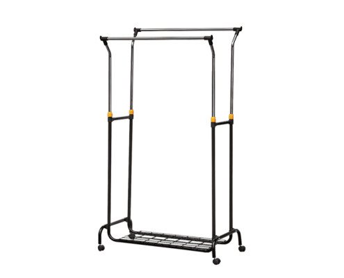 manual liftable clothing rack, movable garment rack