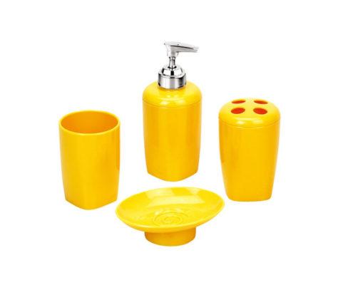 soap dispenser, tumbler, soap dish, tooth brush holder