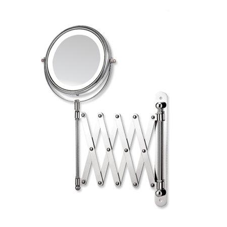 2X cosmetic mirror, LED wall mounted mirror, bathroom makeup mirror