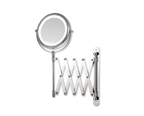 2X cosmetic mirror, LED wall mounted mirror, bathroom makeup mirror