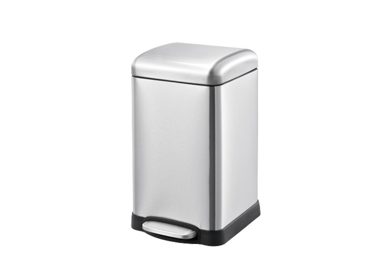 square pedal waste can
