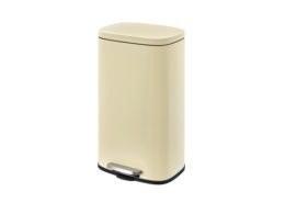 Rectangular Waste Container steel lid beige 30Liter