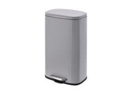 Rectangular Waste Can Pedal grey 30Liter