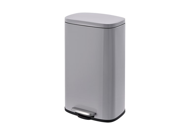 Rectangular Waste Can Pedal grey 30Liter