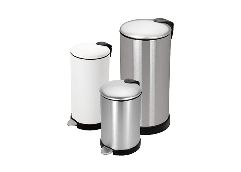 Round Step Trash Can steel lid