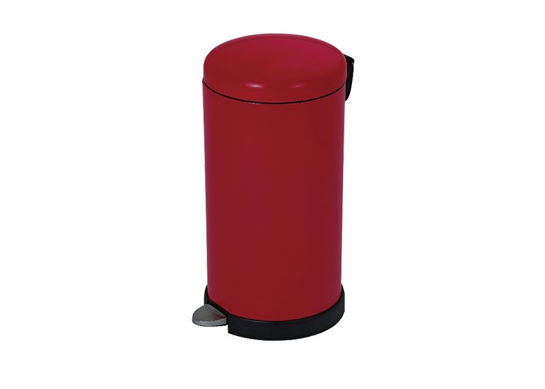 Round Step Bin Red