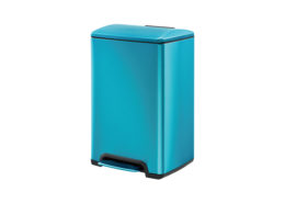 Rectangular Pedal Trash Can Cerulean Manufacturer DBS-11C