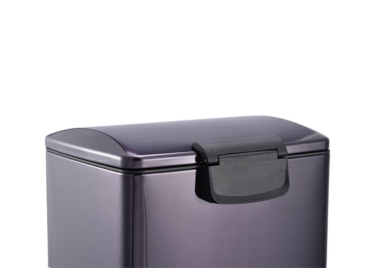 Rectangular Pedal Trash Can Steel Lid Raisin DBS-11
