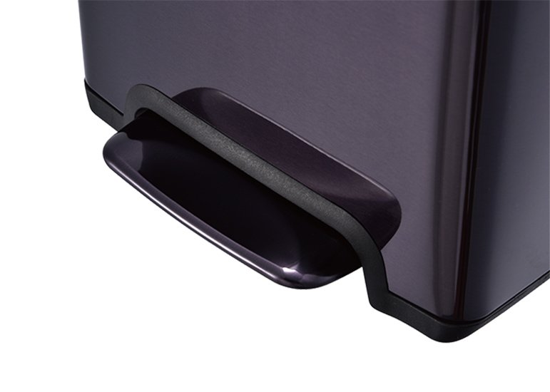 Rectangular Pedal Trash Can Steel Lid Raisin Pedal DBS-11