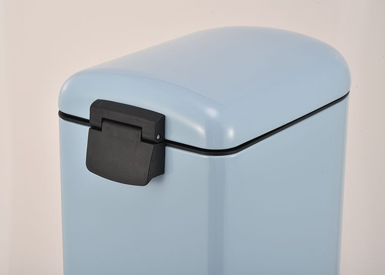 Slim Trash Can U Shaped Metal Lid