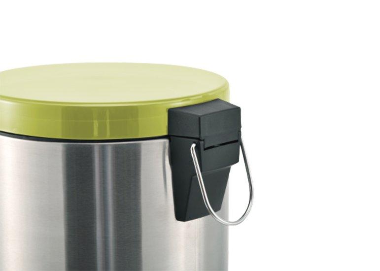 Couvercle en plastique transparent pour poubelle